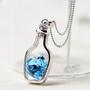Halssmykke - Hjerte i flaske