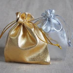 Gavepose, gull/sølvfarget